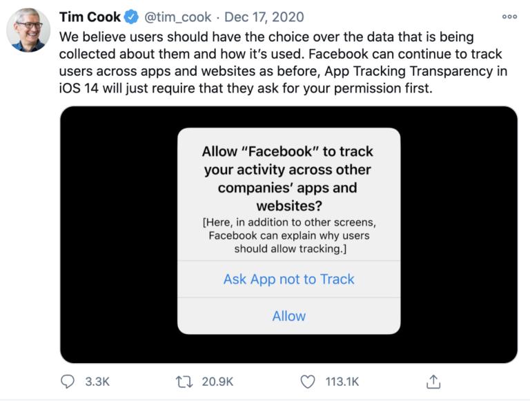 Apple schimbă tracking-ul în iOS 14